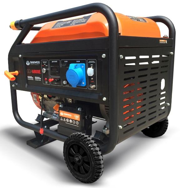 Бензиновий електрогенератор Daewoo GDA 6800E