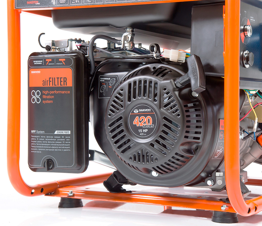 Бензиновий електрогенератор Daewoo GDA 7500E-3 (трифазний)