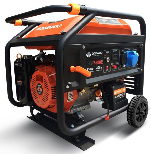Бензиновий електрогенератор Daewoo GDA 7500E (Expert)
