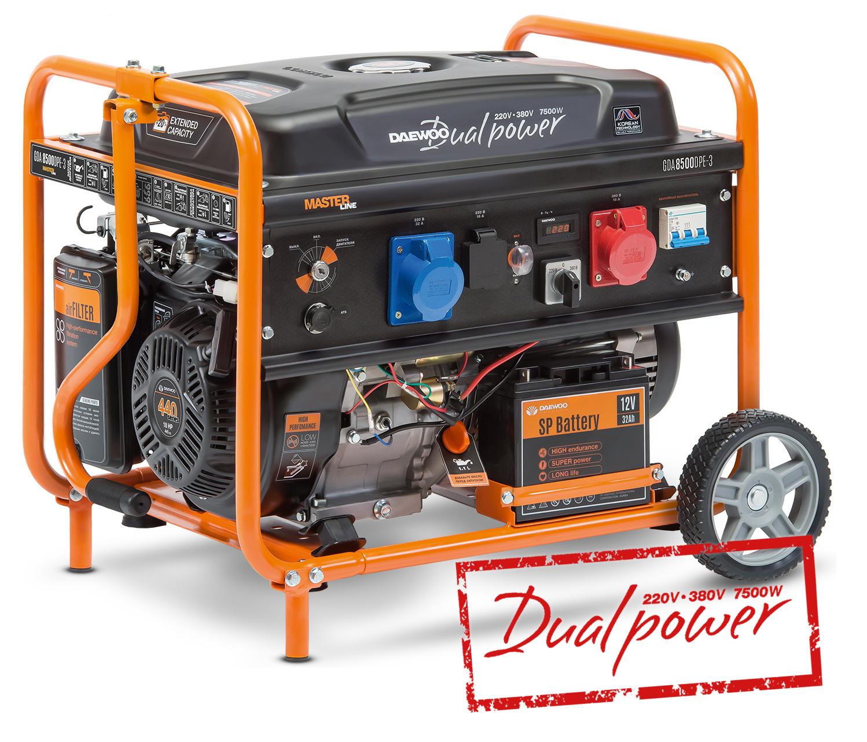 Бензиновий електрогенератор Daewoo GDA 8500DPE-3 (Дворежимний 380/220В)