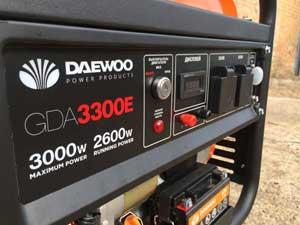 Електрогенератор для будинку та дачі фірми Daewoo